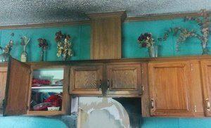 Water Damage Fire Damage Restoration Of Cozy Kitchen