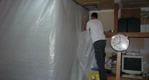 Water Damage Apachie Junction Sealing In Mold With A Vapor Barrier