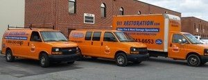 Water Damage Chandler Heights Restoration Van And Truck And Box Truck