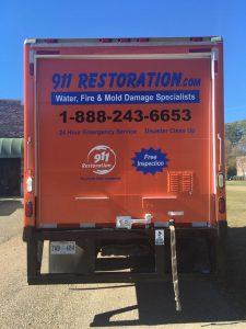 Fire-damage-restoration-van-911